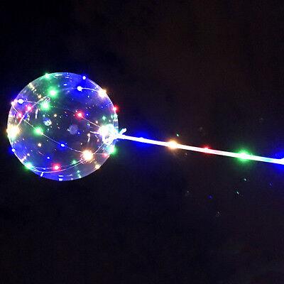LED Light  Transparent Balloon Wedding Birthday Xmas Party Lights Decoration 8