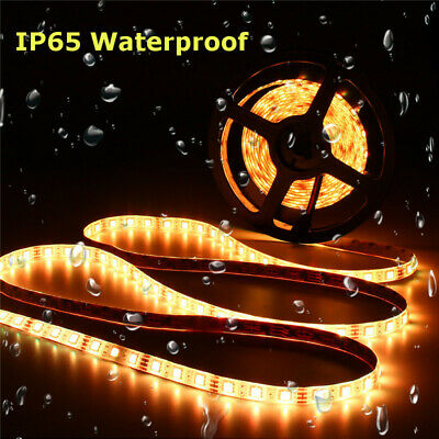 LED Strip Light 5050SMD RGB 5M 300 Waterproof 12V IR Controller W/ Power Adaptor 10