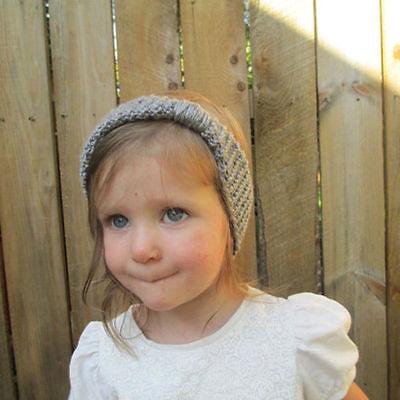 Bébé Fille Bandeau Papillon Nœud Crochet Enfant Serre-tête Cheveux Turban Mignon 11