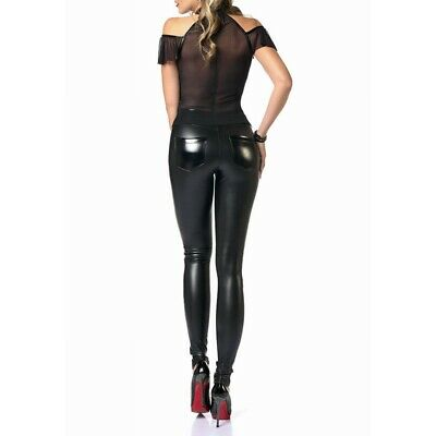 Treggings Pantaloni Wetlook pelle Versione Classico Dina di Catanzaro 3