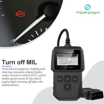 Car Vehicle Auto Diagnostic Scanner OBD2 EOBD OBDII Scan Tool Fault Code Reader 3