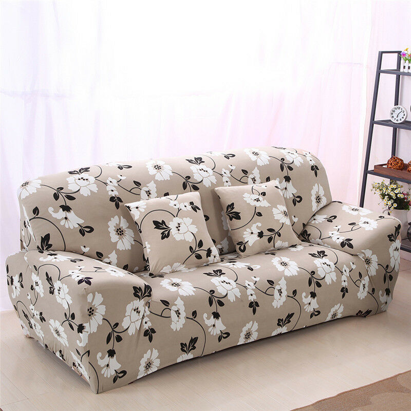 1/2/3 SEATER STRETCH Sofa Slipcover Protector Soft Couch ...