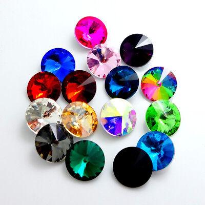 15PCS XILION  ELEMENTS Crystal Rivoli loose Beads 14mm 3