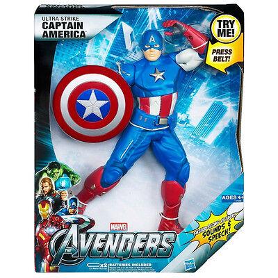 "Hasbro Marvel Avengers 10/"" Action Figure Ultra Strike Captain America NIB"