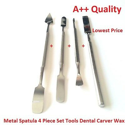 Metal Spatula 4 Piece Set Tools Dental Carver Wax Surgical - New Stainless Steel 2