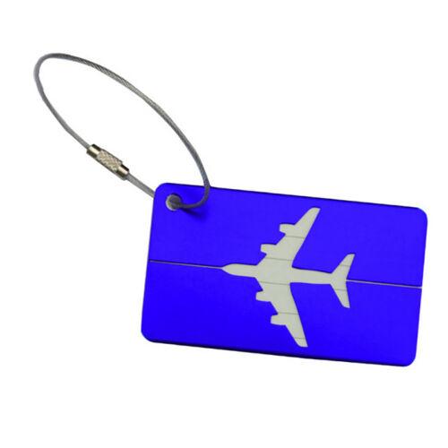 Aluminium Travel Luggage Baggage Tag Suitcase Identity Address Name Label 9