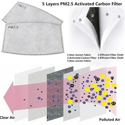 Face Mask Cotton Reusable Air Purifying Washable Mask Haze Pollution+ 2 Filters 7
