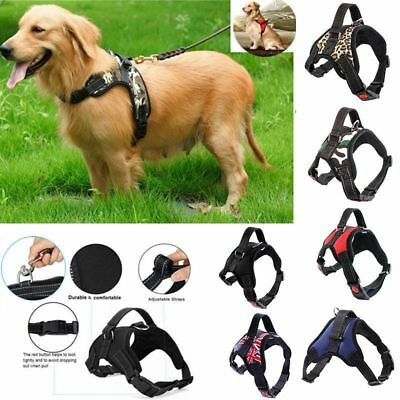 Non-Pull Dog Harness Adjustable Pet Puppy Walking Strap Vest Soft Chest Belt UK 2