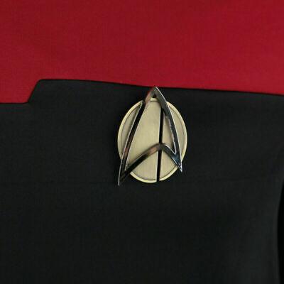Star Trek Picard Combadge Rank Pips Set Command Science Engineering Pin Brooch 10