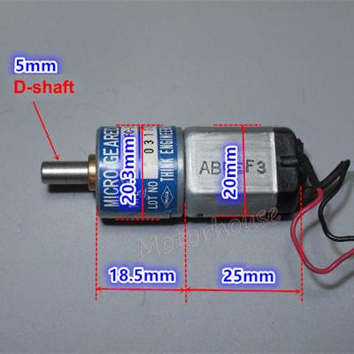THINK DC12V-24V 350RPM mini 20mm Full Metal Gearbox Gear motor Reducer DIY Robot 2
