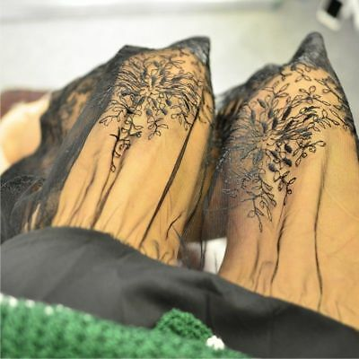 Frauen Spitze Slipper Rock Verlängerung Knielang A-Line Blumenmuster Unterrock 3