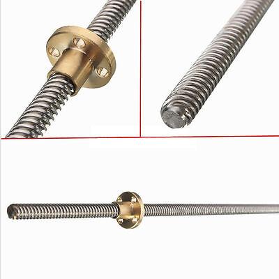 100mm - 600mm 3D Printer T8 8mm Lead Screw Rod Nut Z Axis Linear Rail Rail Bar 3