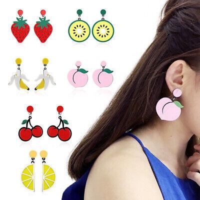 Fashion Women Delicious Fruit Acrylic Pendant Dangle Ear Studs Earrings Jewelry 3