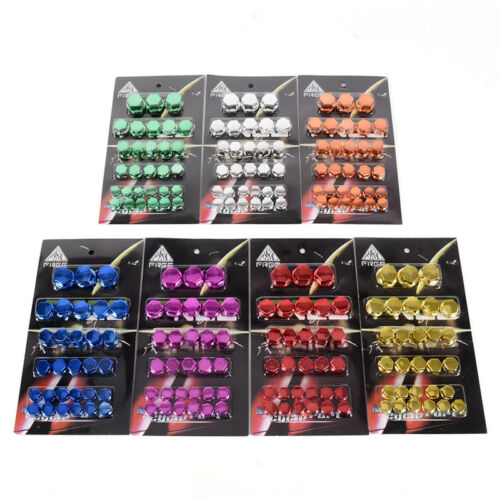 30x Motorcycle Screw Nut Bolt Cap Cover Decoration Centro Motorbike Ornament G$ 5