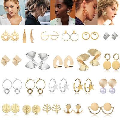 Boho Women Simple Geometric Circle Ear Stud Drop Dangle Earrings Fashion Designs 4