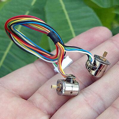 2PCS 2-Phase 4-Wire Miniature 8mm Micro Mini Stepper Motor Copper Gear Camera 8