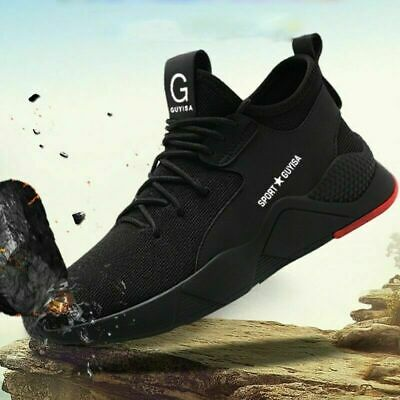 UK Mens Safety Shoes Trainers Steel Toe Work Boots Sports Hiking Shoes Sneakers 5