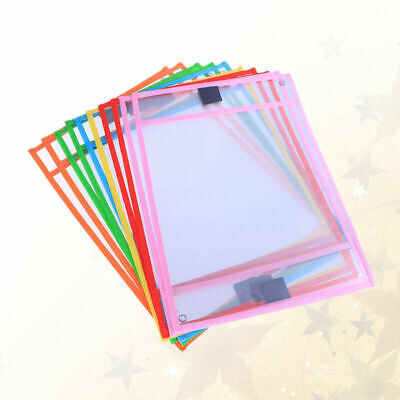 30pc Resuable Dry Erase Pocket Sleeves Students Kids Write and Wipe Tool Pockets 5