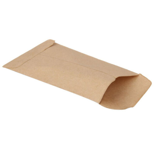 100pcs Small Kraft Paper Gift Bags Vintage Wedding Treat Brown Paper Bag 3
