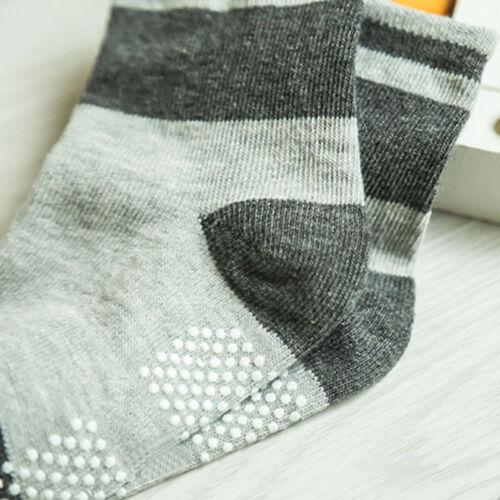 12 Paar Set Kleinkind Baby Socken Rutschfeste Anti-Rutsch-Söckchen Cotton GripZL