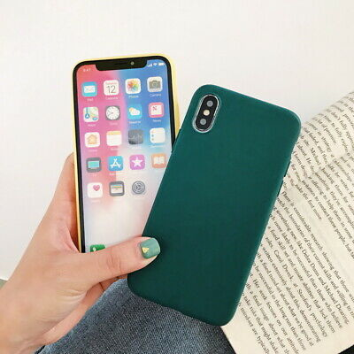 Frosted Matte Candy Soft Silicone Case Cover For iPhone XS Max XR X 8 7 6s Plus 2
