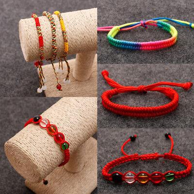 Lucky Handmade Buddhist Knots Rope Bracelet Tibetan Buddhist Handmade Bracelet