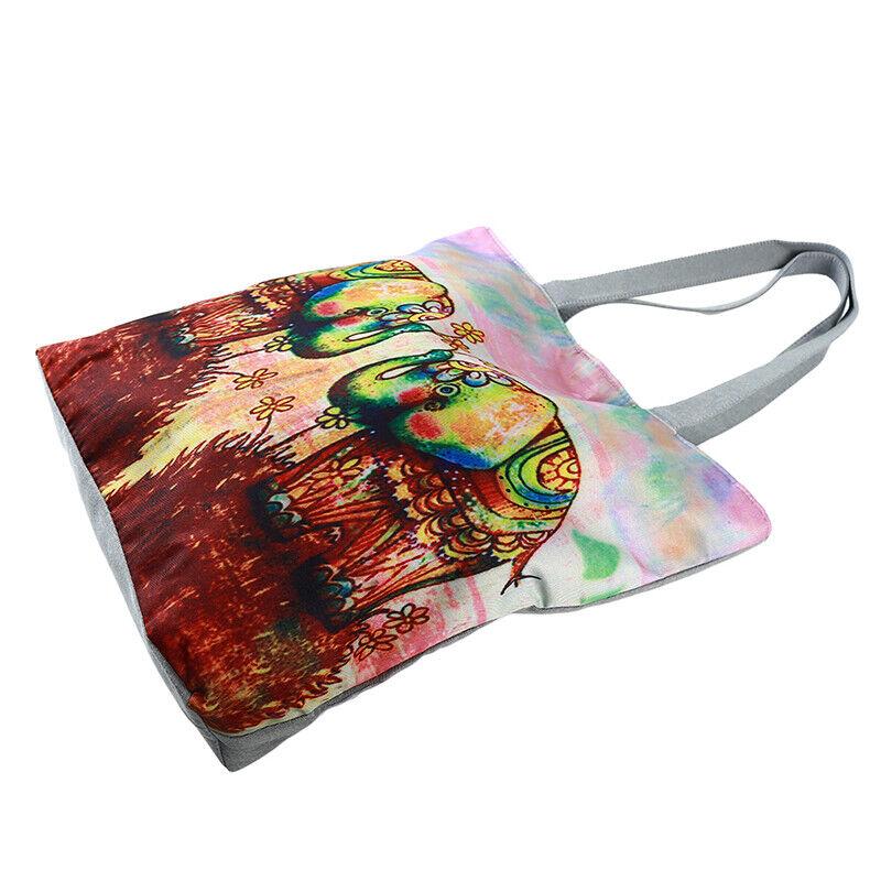 Handbag Elephant Printed Tote Casual Beach Bags Shoulder Shopping Casual JJ 5
