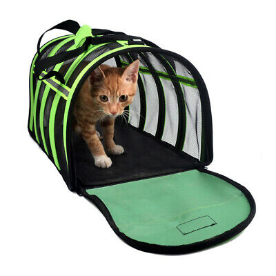 Pet Carrier Soft Sided Cat / Dog Comfort Travel Tote Bag Airline Approved S/M/L 2