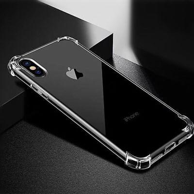 Antichoc Silicone TPU renforcé Coque Pour iPhone XR XS Max 2018 8 7 Plus 6s Plus 5