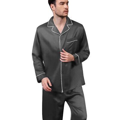 Mens Silk Satin  Pajamas - PJ Set  Top and Bottom 4