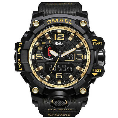 REGNO Unito Da Uomo smael Tactical Dual Display SHOCK Digital Sports Divers 3