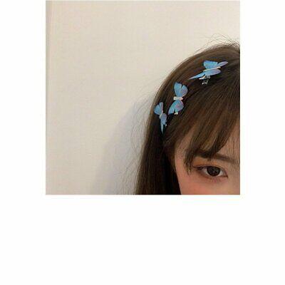 Fashion Blue Butterfly Hair Clip Hairband Bobby Pin Barrette Hairpin Headdress