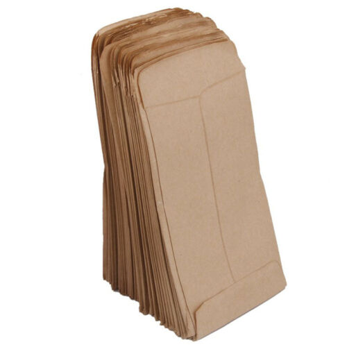 100pcs Small Kraft Paper Gift Bags Vintage Wedding Treat Brown Paper Bag 9