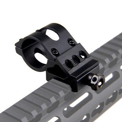 """45°& 1"""" 25.4mm Ring QD Clamping Mount 20mm Rail Fr Hunt Flashlight Laser Shotgun 6"""