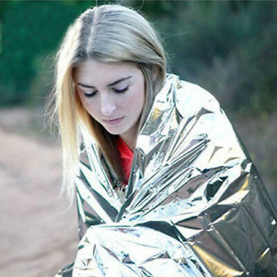 2 X Foil Space Blanket Emergency Survival Blanket Thermal Rescue First Aid Top