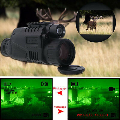 WG-37 5X40 Zoom digitale Visore notturno monoculare a infrarossi Disco 4