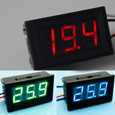 Voltage Display DC Meter 3-Digital Mini Voltmeter Wires LED 0-30V  Panel Tester 2