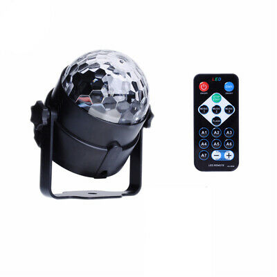RGB LED Effect Disco Light Stage DJ Laser Crystal Magic Ball Lights Club Party 10