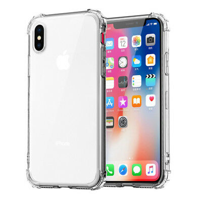 For iPhone XS Max XR X 8 7 6 5 Shockproof Bumper Transparent Silicone Case Cover 6