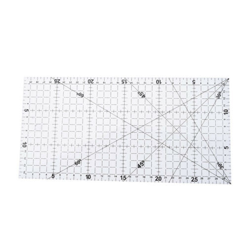1Pc patchwork ruler quilting tools acrylic material transparent ruler scale  GN 4