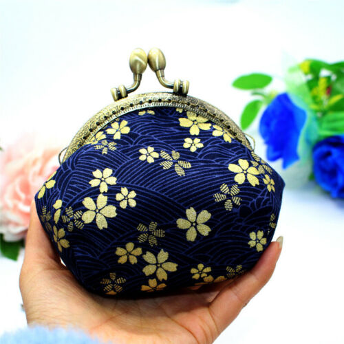 Collectable Handmade Japanese Style Fans Clasp Coin Purse Bag Change Wallets G 4