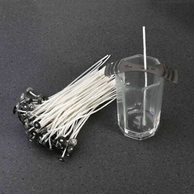 100 x 15cm Long Pre Waxed Wicks For Home Candle Making Cotton With Sustainers UK 5