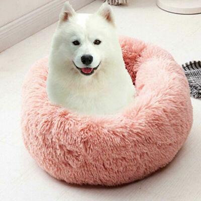 US Fur Donut Cuddler Pet Calming Bed Dog Beds Soft Warmer Medium Small Dogs Cats 6