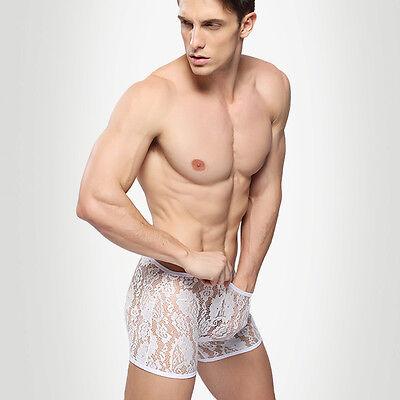 Boxer Dentelles Transparent Sexy Homme Thong Man Underwear Uomo Lenceria 7