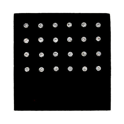 24Pcs Crystal Rhinestone Nose Lip Ring Bone Studs Steel Body Piercing Jewelry 8