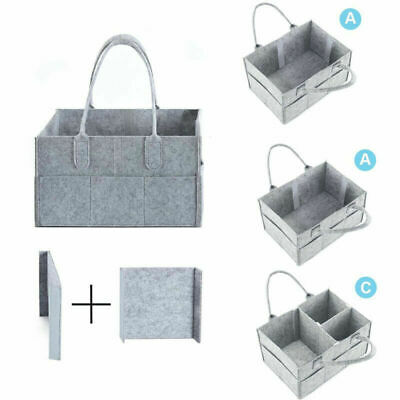 Baby Diaper Organizer Caddy Changing Nappy Kids Storage Carrier Bag Large Pocket 5