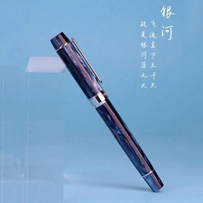 PENBBS 355 Resin Piston Ink Absorption Fountain Pen Medium/Fine Nib Writing Pens