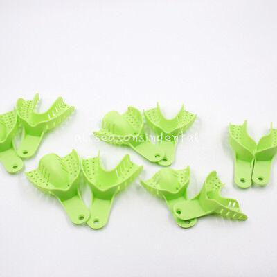 10 Pcs Autoclavable Dental Plastic Impression Trays Central Denture Disposable 2