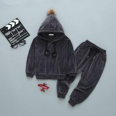 Boys Girls Set Pants Top Hoodie Tracksuit Long sleeve sets age 2 3 4 5 6 7 years 4