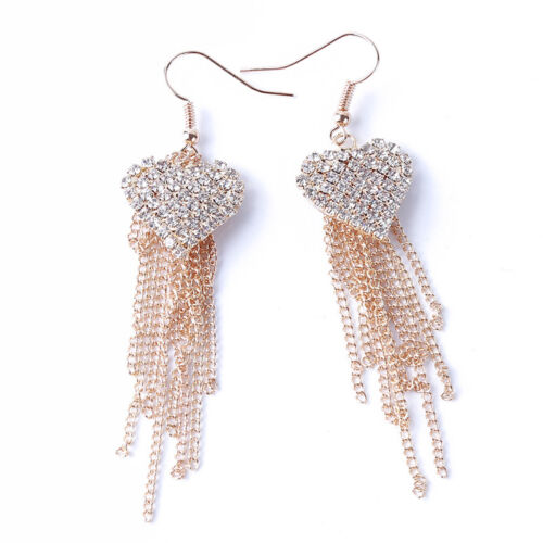 Chic Ladies Love Heart Shape Tassel Earrings Anniversary Party Jewellery one 5